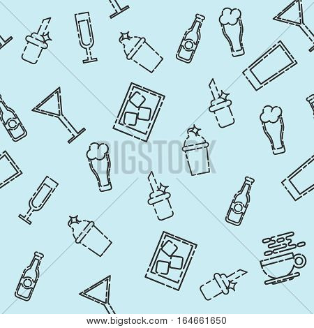 Bar icons set pattern. Vector illustration, EPS 10