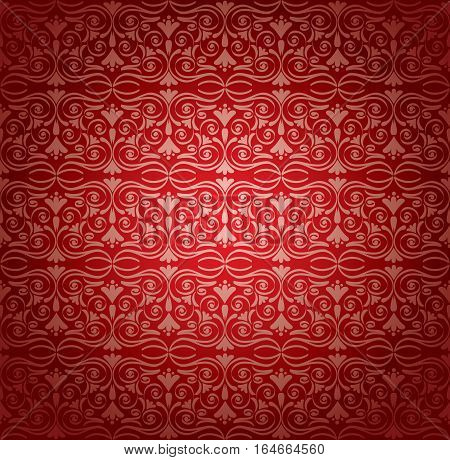 Retro wallpaper, vector illustration. Excellent seamless floral background