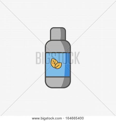 A simple icon of cough of sore throat mixture in sirup