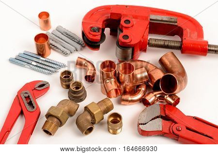 Tools for copper installation and plumbing equipment