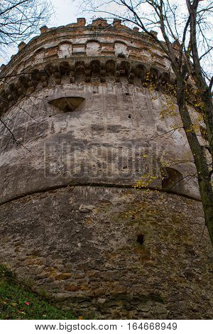 The old-time castle XVI ages. Ostrog. Ukraine Tower of the castle if Ostrog Ukraine