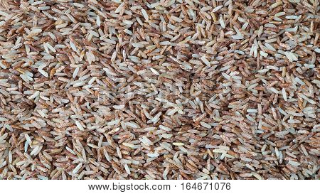 Brown rice background texture Red rice background Brown rice have Vitamin B2 Brown rice is rich in Vitamin B2 helps prevent canker sore poster