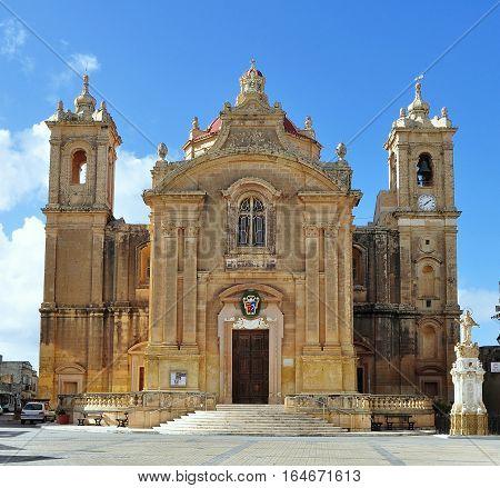 church in village Qrendi on island Malta