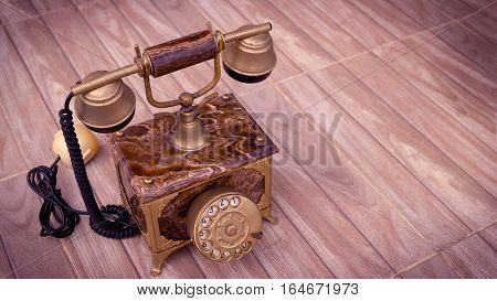 Antique telephone Home telephone Vintage telephone abstract of communication