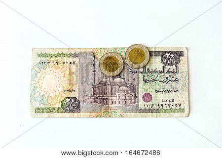 20 Egyptian Pounds Banknote, Egp
