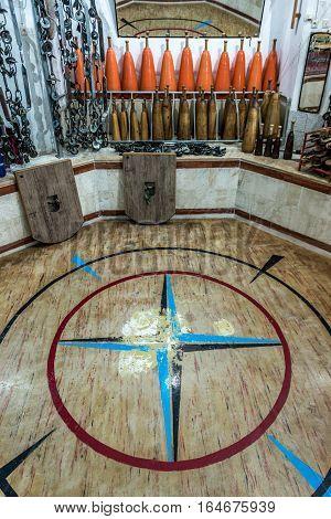 Yazd Iran - October 21 2016: Interior of traditional Persian gym called zurkaneh in Yazd city Iran