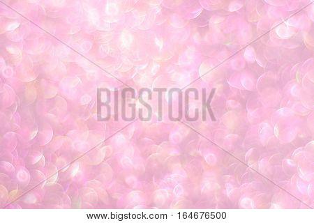 Natural Bokeh From Pink Glitter Defocused Lights