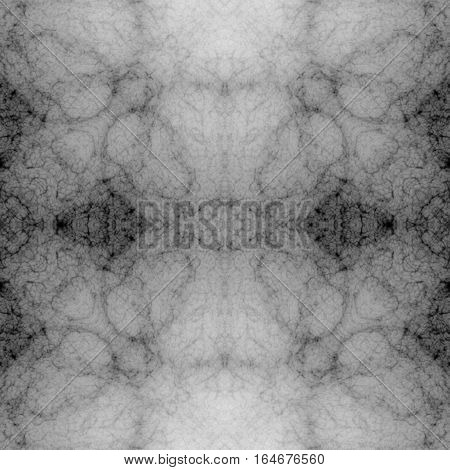 Soft symmetry black and white ornamental mystic spirituality image background