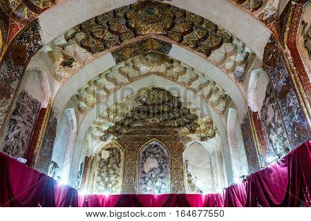 Shiraz Iran - October 23 2016: Hall in the Karim Khan Castle in Shiraz city in Iran