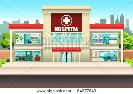 A vector illustration of Hospital Medical Building