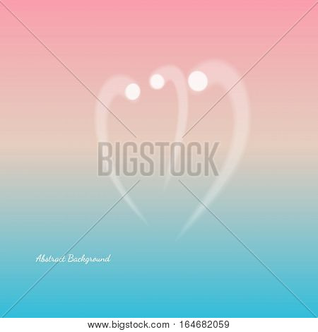 line shape of a heart. Vector gradient background