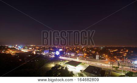Managua Traffic At Night