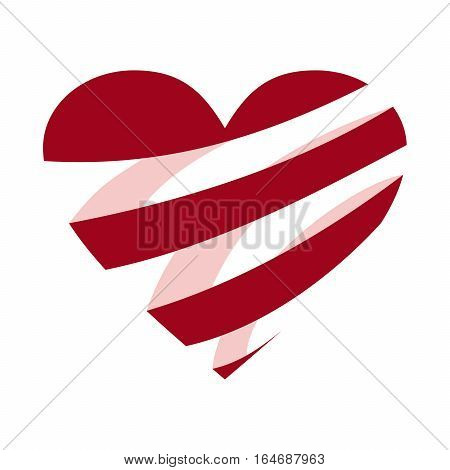 Valentines Day heart vector design isolated on white background