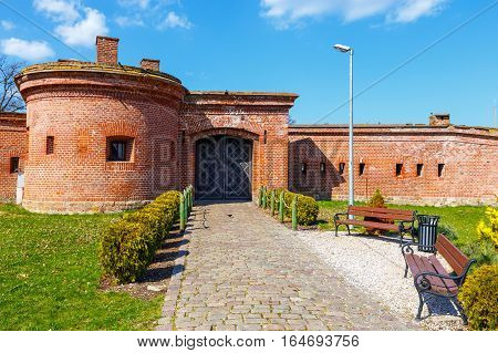 View Of The Fortifications In  Harbor In Kolobrzeg, West Pomerania, Poland