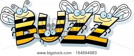 Cartoon Bee Buzz