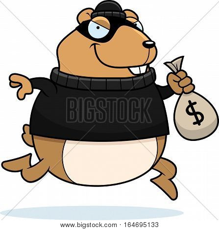 Cartoon Hamster Burglar