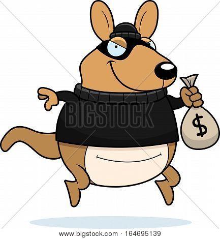 Cartoon Wallaby Burglar
