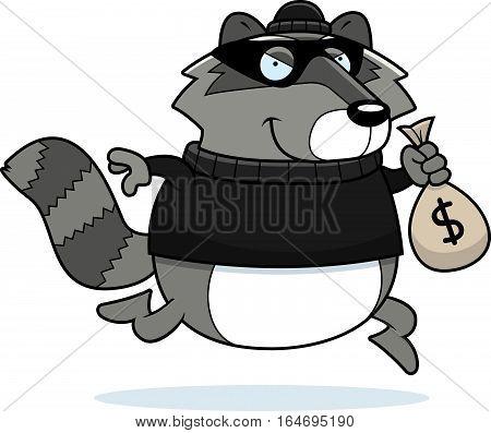 Cartoon Raccoon Burglar