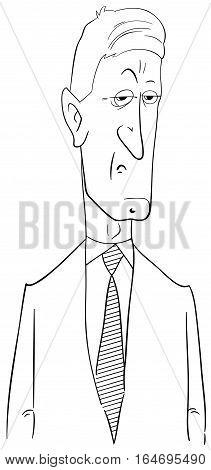 Black And White Politician Cartoon