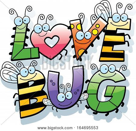 Cartoon Love Bug Text
