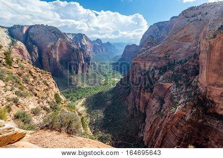 View Down Zion Canyon