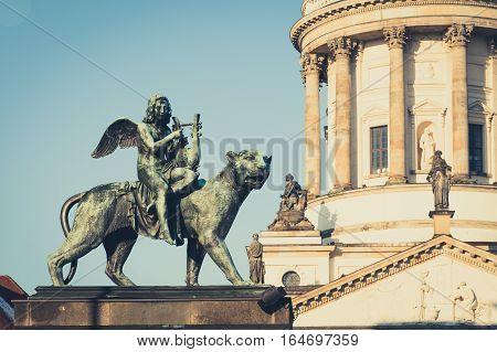 Angel statue at Konzerthaus Berlin - Gendarmenmarkt