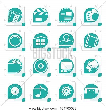 Stylized Internet, Computer and mobile phone icons - Vector icon set