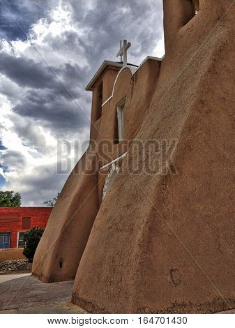 Old adobe church in Taos, New Mexico 2