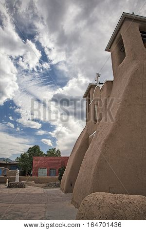 Old adobe church in Taos, New Mexico 1