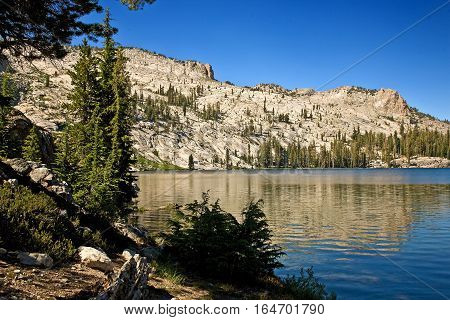May Lake in the upper Yosemite. Short hike (1+ mile) off Hwy 120, before Lake Tenaya, on the way to Tuolumne Meadows.
