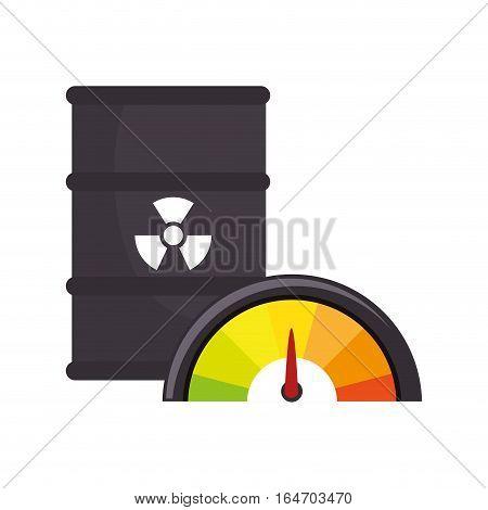 atomic tank isolated icon vector illustration design