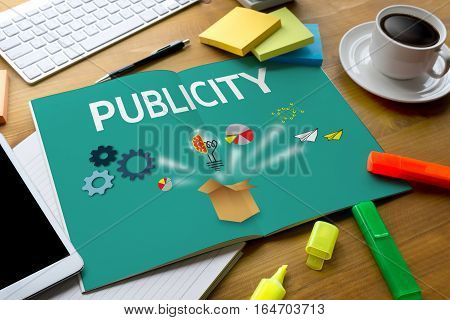 PUBLICITY Online Marketing Advertisement Social Media accommodation, advantage,