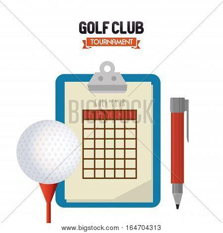 golf club sport icon vector illustration design