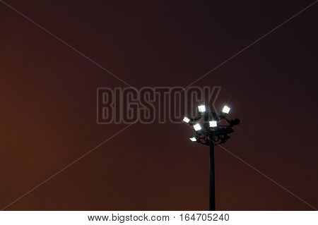 silhouette pillar spotlight with sunset light background
