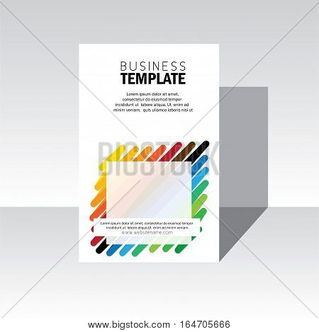 business brochure leaflet poster template vector. stock-vector eps 10 format