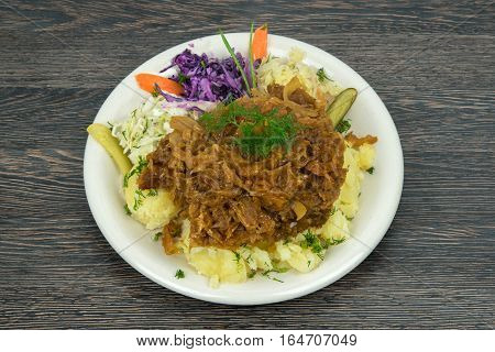 Traditional polish dish with cabbage and meat