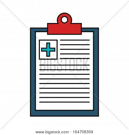 medical order clipboard isolated icon vector illustration design