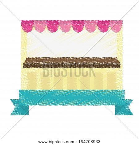 market stall icon over white background. colorful design. vector illustration