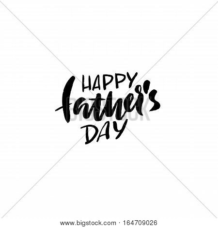 Happy Father's Day inscription. Vector illustration. Father's Day greeting card logo template. Happy fathers day lettering