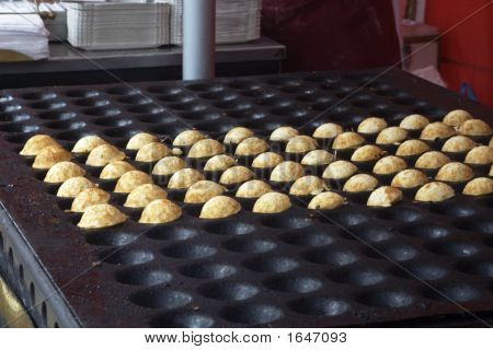 Poffertjes On Baking Plate