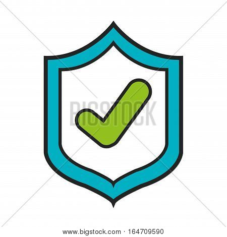 security shield isolated icon vector illustration design