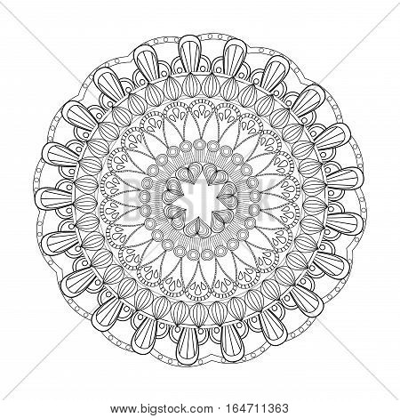 mandala rituals classic outline vector illustration eps 10