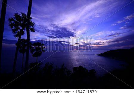 Sunset at Phromthep cape at Phuket, Thailand