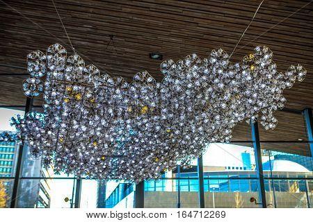 Decorative lightening element close-up design indoor photo.