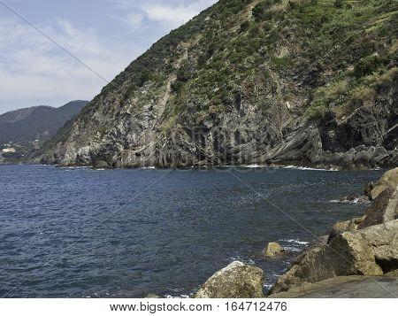 monte rosso, a small City at the italian coast