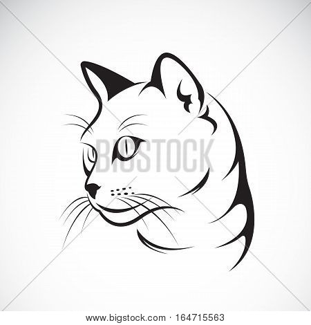 Vector of a cat face design on white background Vector illustration. Pet