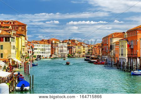 Beautiful View Of The Grand Canal In Venice, Italy