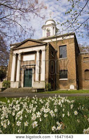 St Mary's Church, Paddington with Narcissus