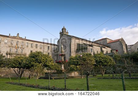 Convent of San Francisco, Pontevedra, Galicia Spain. It was built between the 14th and 15th centuries using the latin cross ground plan with three