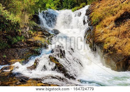 Bubbling Stream Of The Datanla Waterfall In Da Lat City (dalat), Vietnam